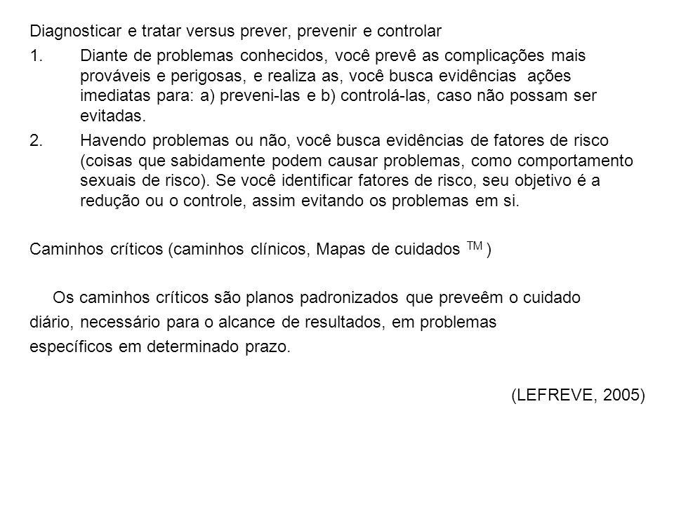 Diagnosticar e tratar versus prever, prevenir e controlar