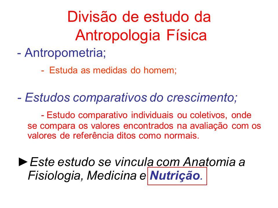 Divisão de estudo da Antropologia Física