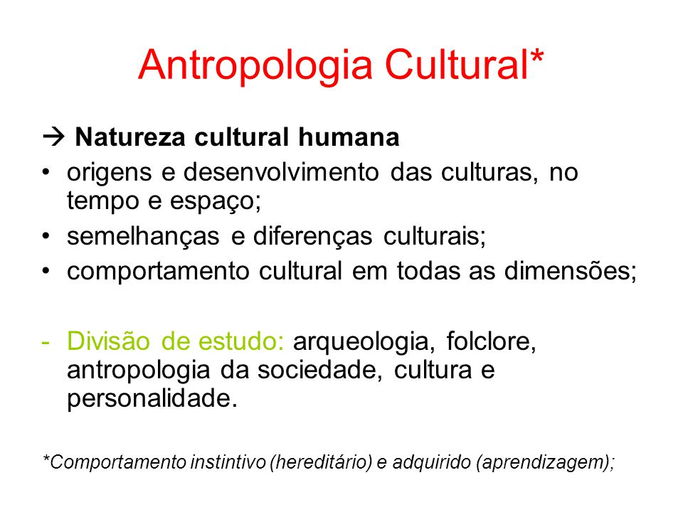 Antropologia Cultural*