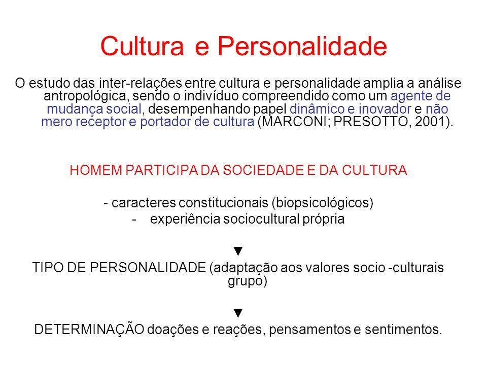 Cultura e Personalidade