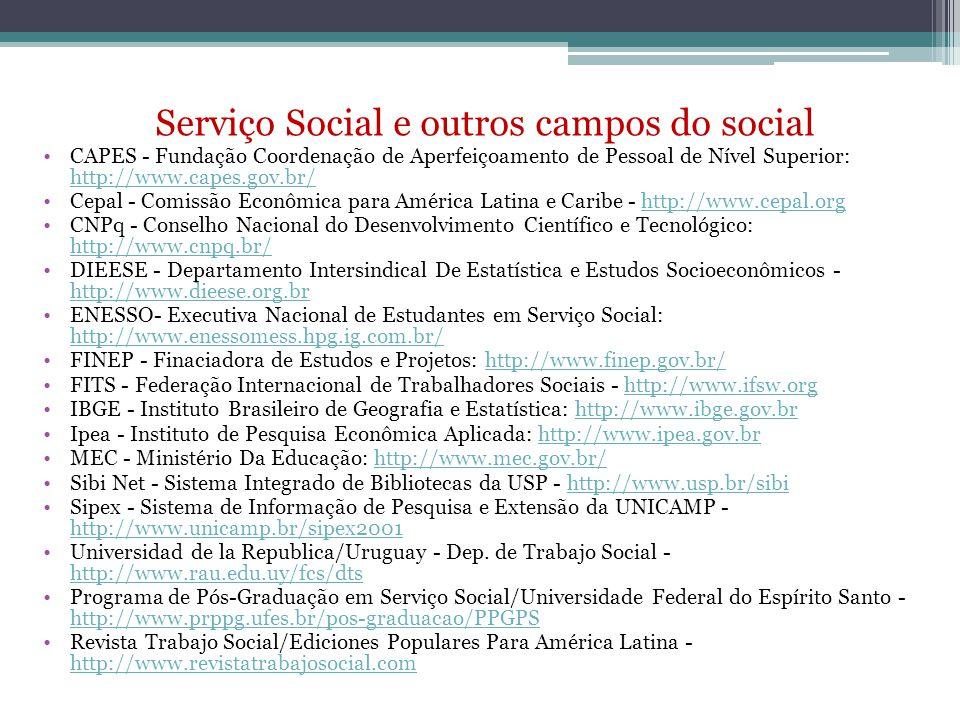 Serviço Social e outros campos do social