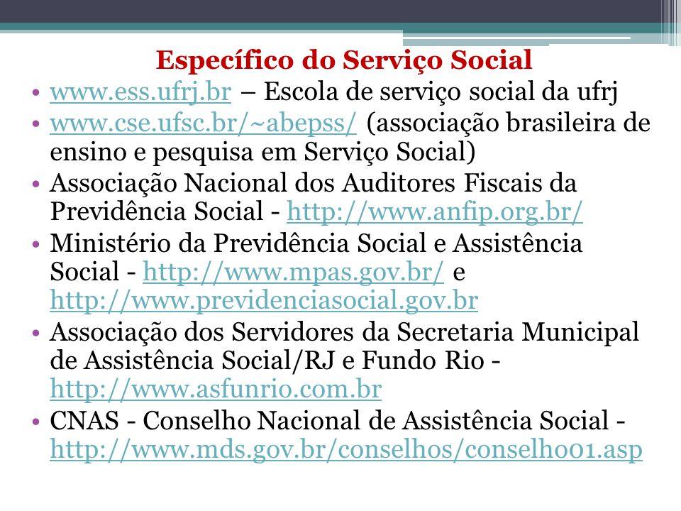 Específico do Serviço Social