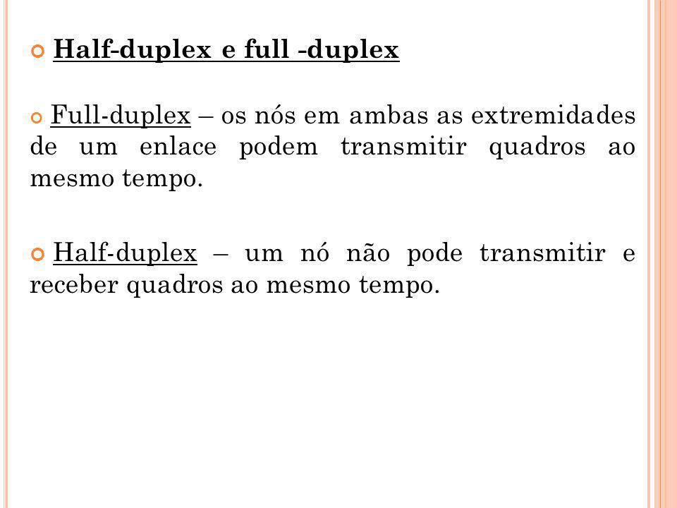 Half-duplex e full -duplex