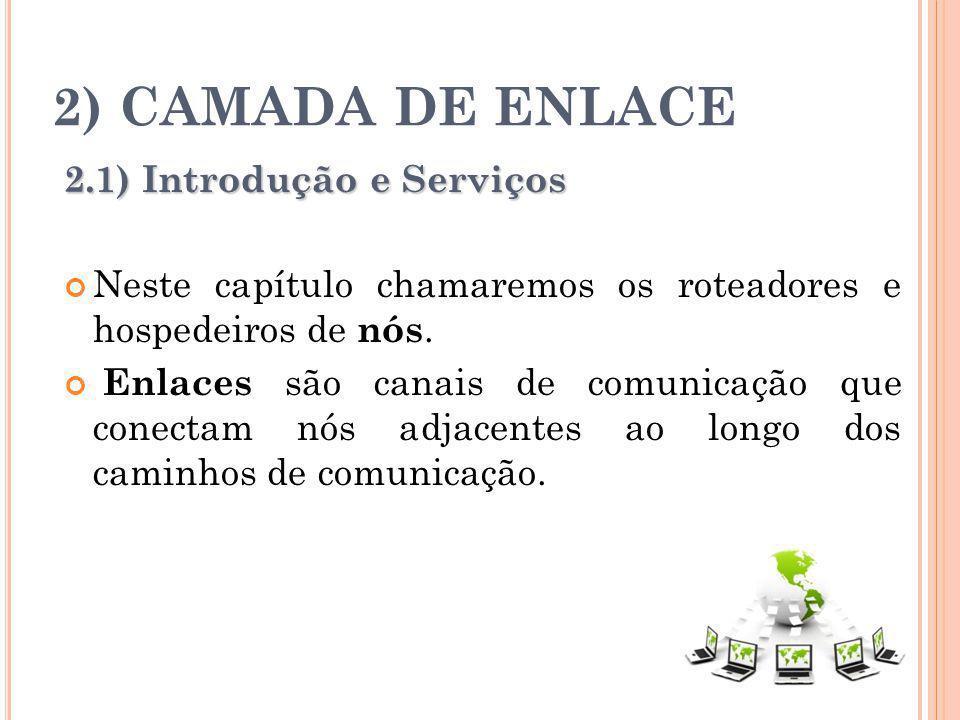 2) CAMADA DE ENLACE 2.1) Introdução e Serviços