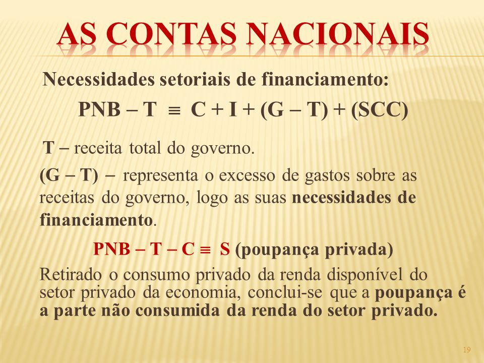 PNB  T  C  S (poupança privada)
