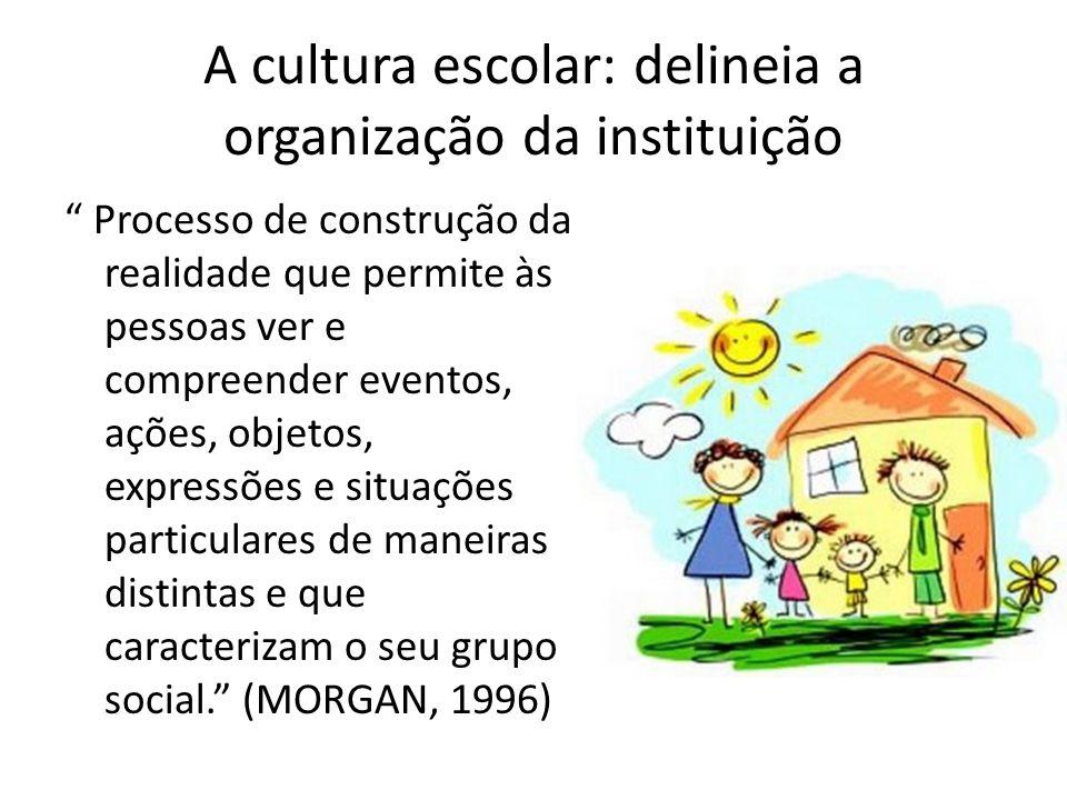 A cultura escolar: delineia a organização da instituição