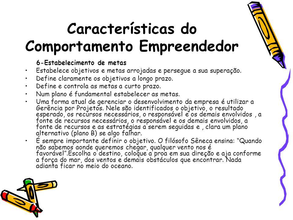 Características do Comportamento Empreendedor