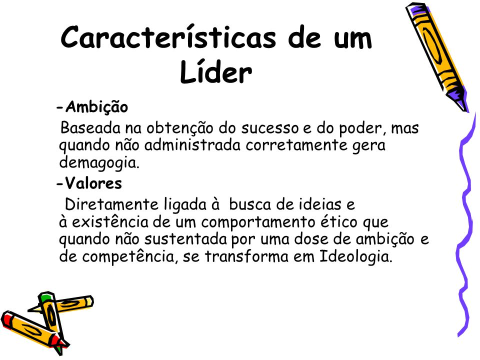 Características de um Líder