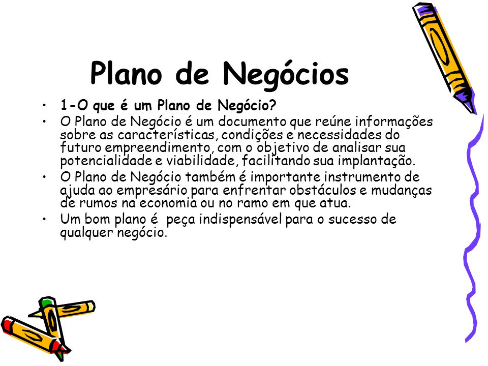 Plano de Negócios 1-O que é um Plano de Negócio