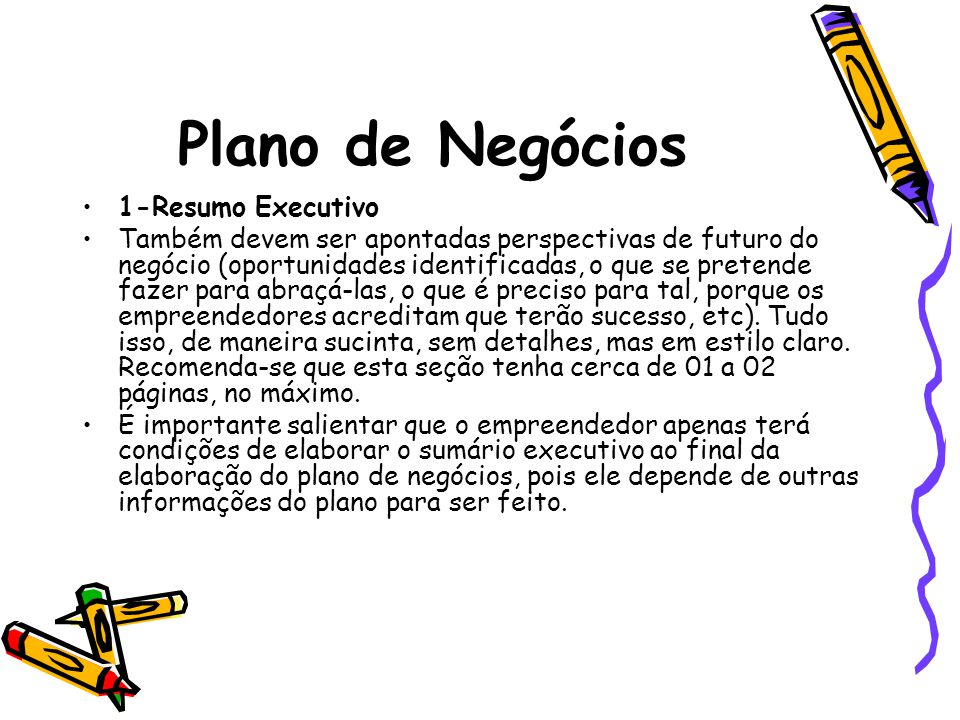 Plano de Negócios 1-Resumo Executivo