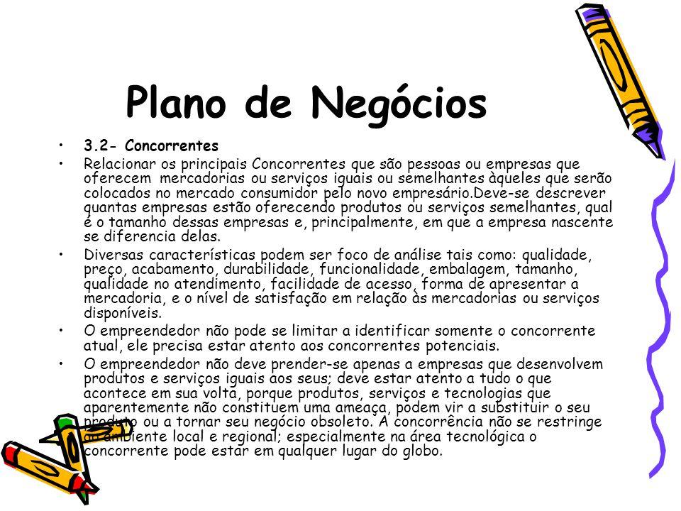 Plano de Negócios 3.2- Concorrentes