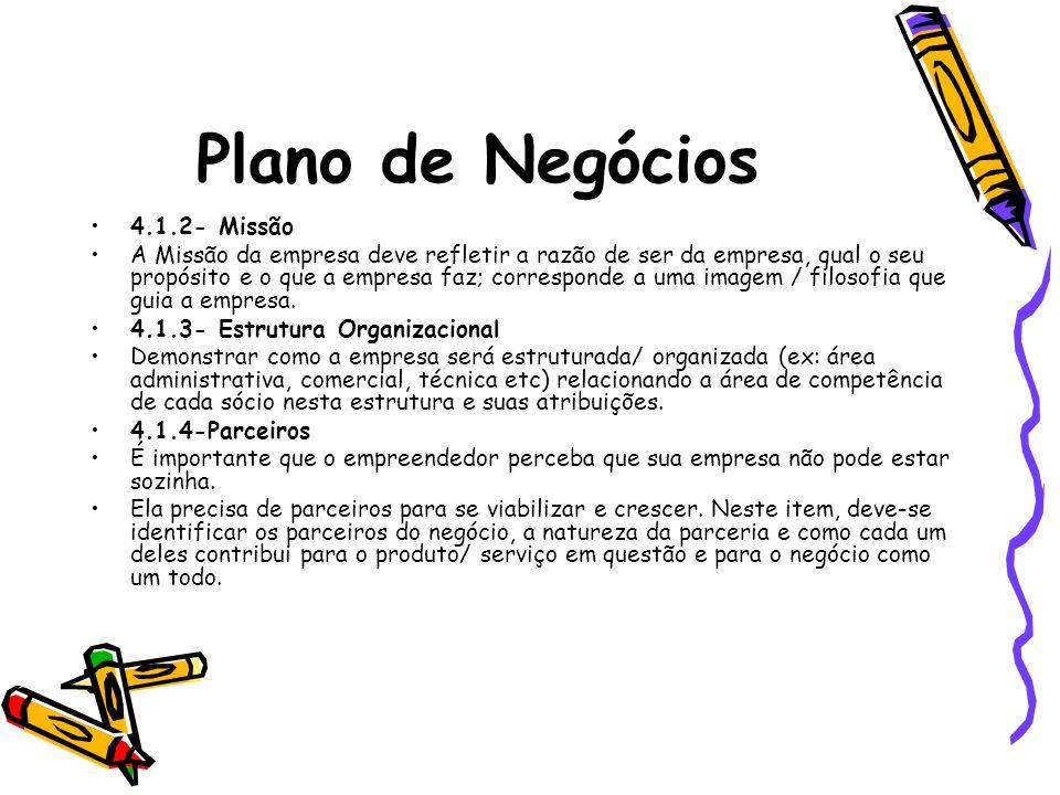 Plano de Negócios 4.1.2- Missão