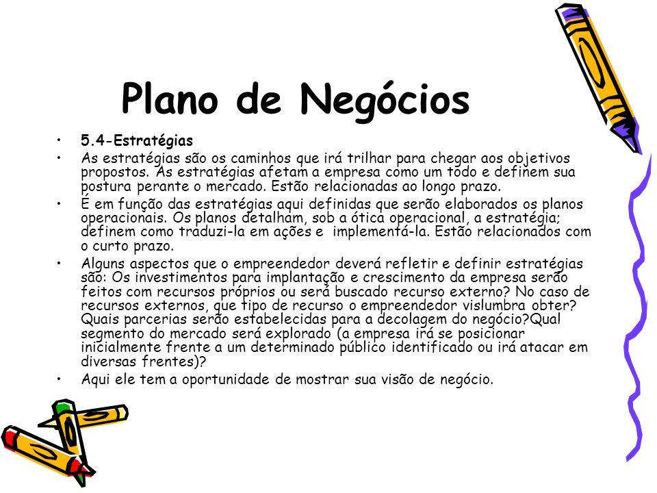 Plano de Negócios 5.4-Estratégias