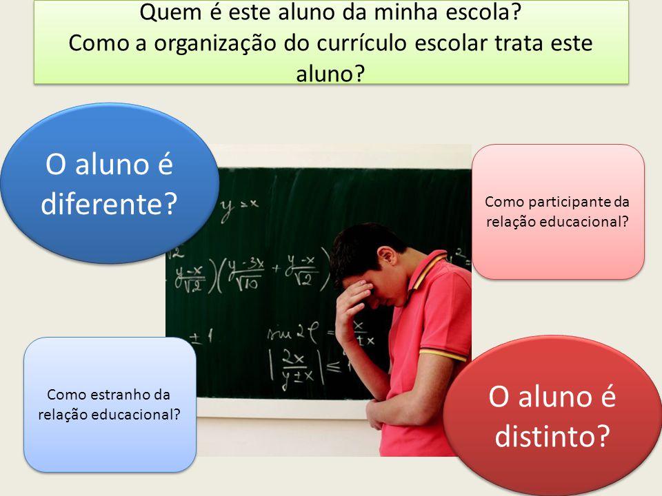 O aluno é diferente O aluno é distinto
