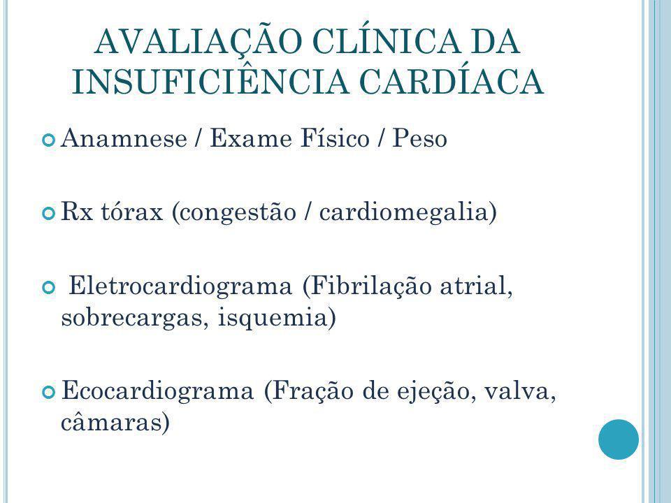 AVALIAÇÃO CLÍNICA DA INSUFICIÊNCIA CARDÍACA
