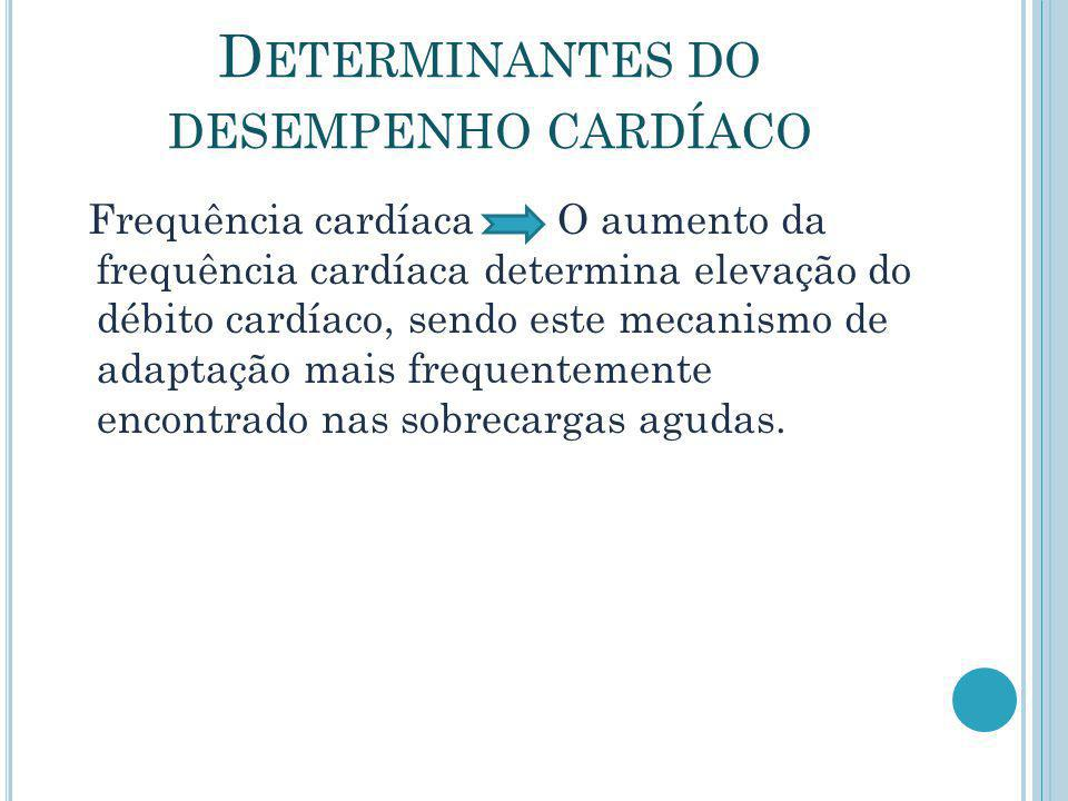 Determinantes do desempenho cardíaco