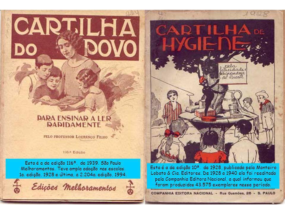 1a. edição, 1928 e última, a 2.204a. edição, 1994.