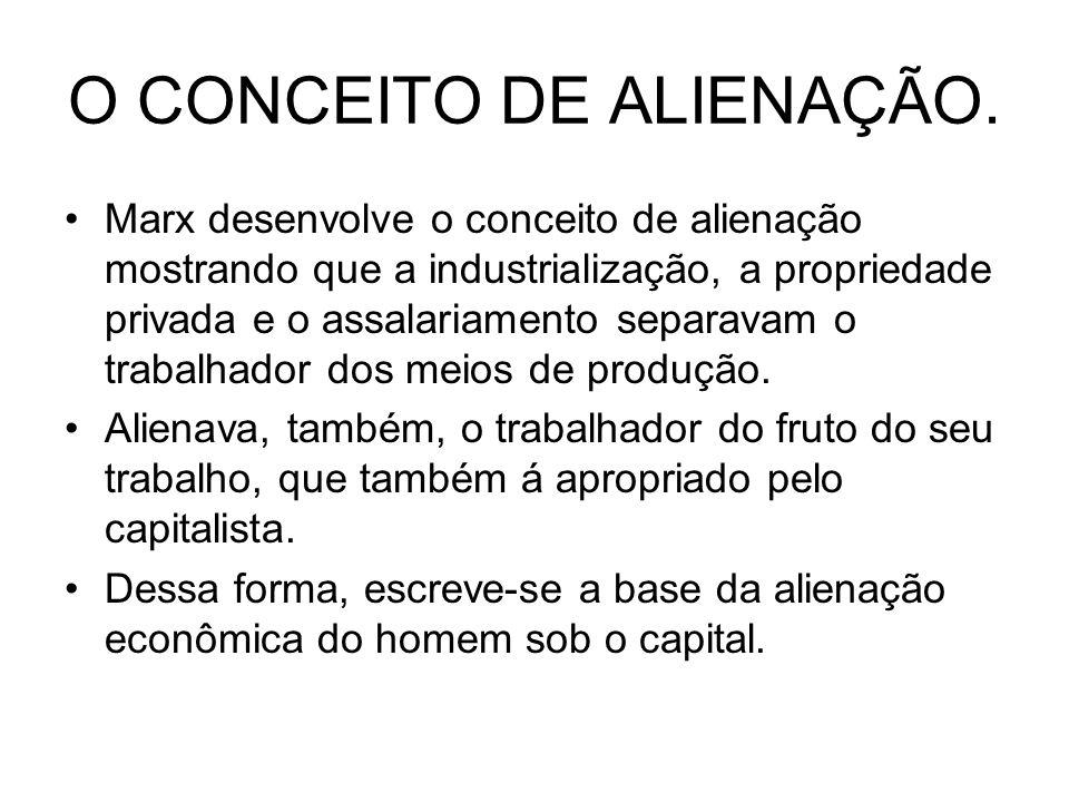 O CONCEITO DE ALIENAÇÃO.