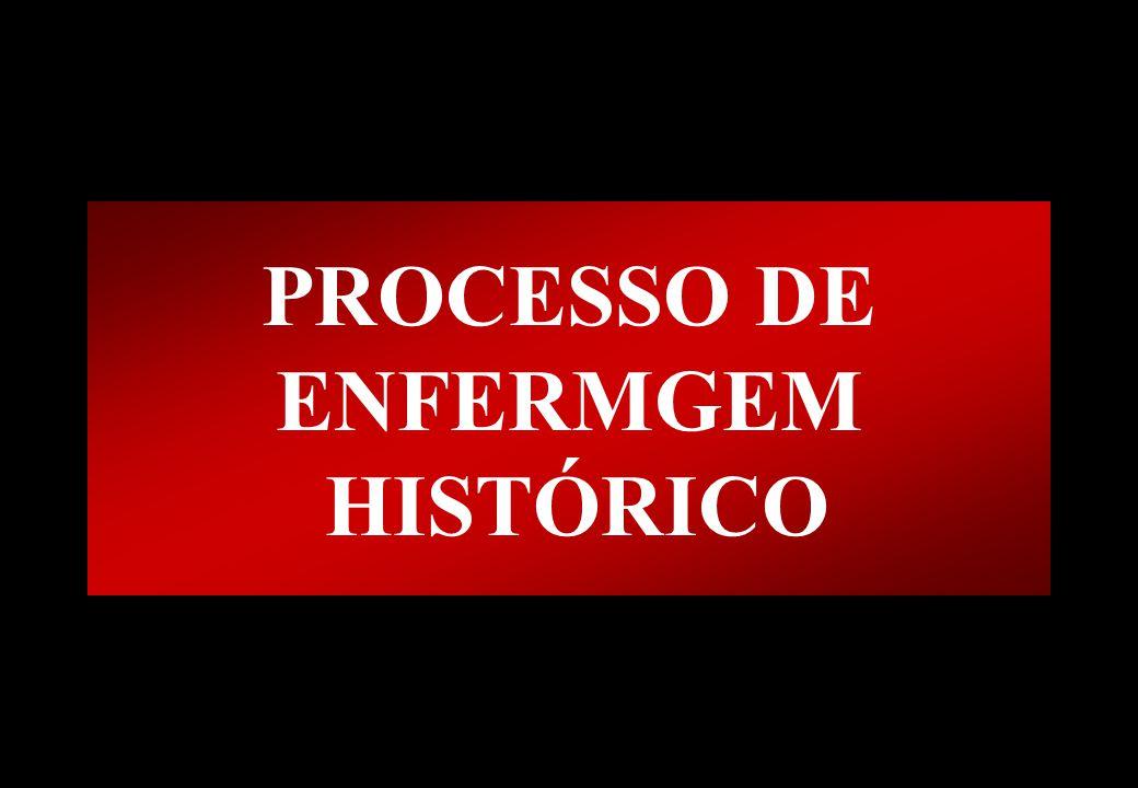 PROCESSO DE ENFERMGEM HISTÓRICO