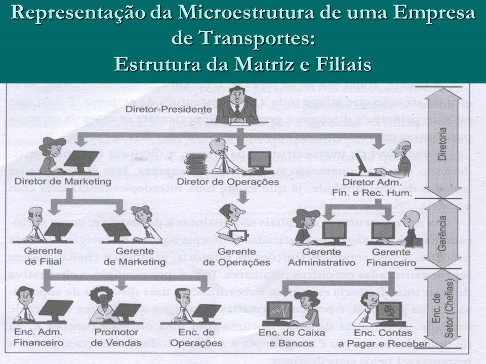 Representação da Microestrutura de uma Empresa de Transportes: Estrutura da Matriz e Filiais
