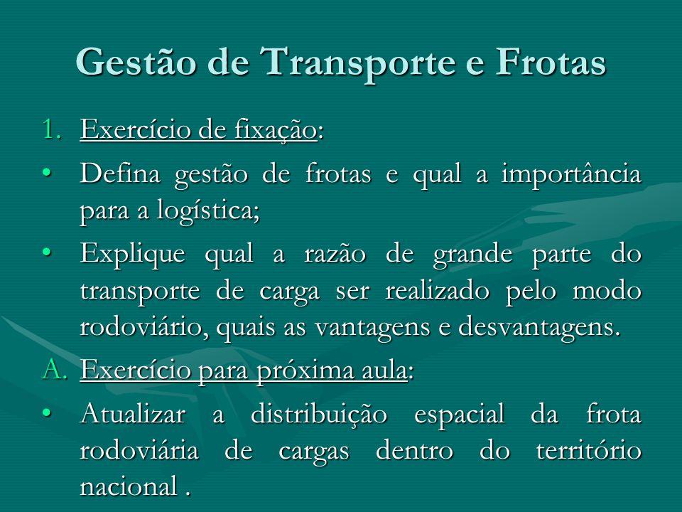 Gestão de Transporte e Frotas