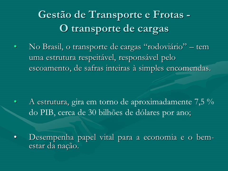 Gestão de Transporte e Frotas - O transporte de cargas