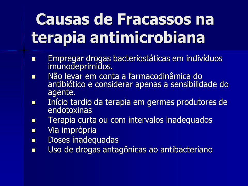 Causas de Fracassos na terapia antimicrobiana