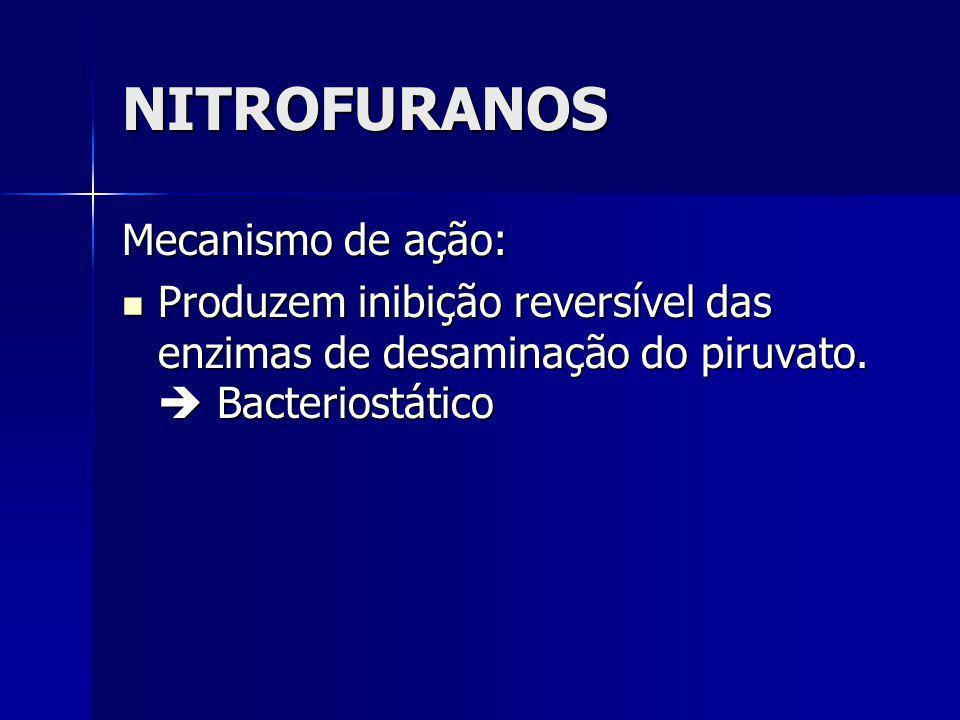 NITROFURANOS Mecanismo de ação: