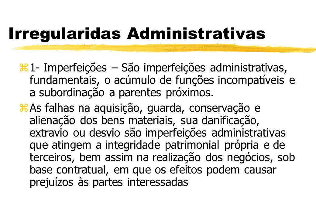 Irregularidas Administrativas