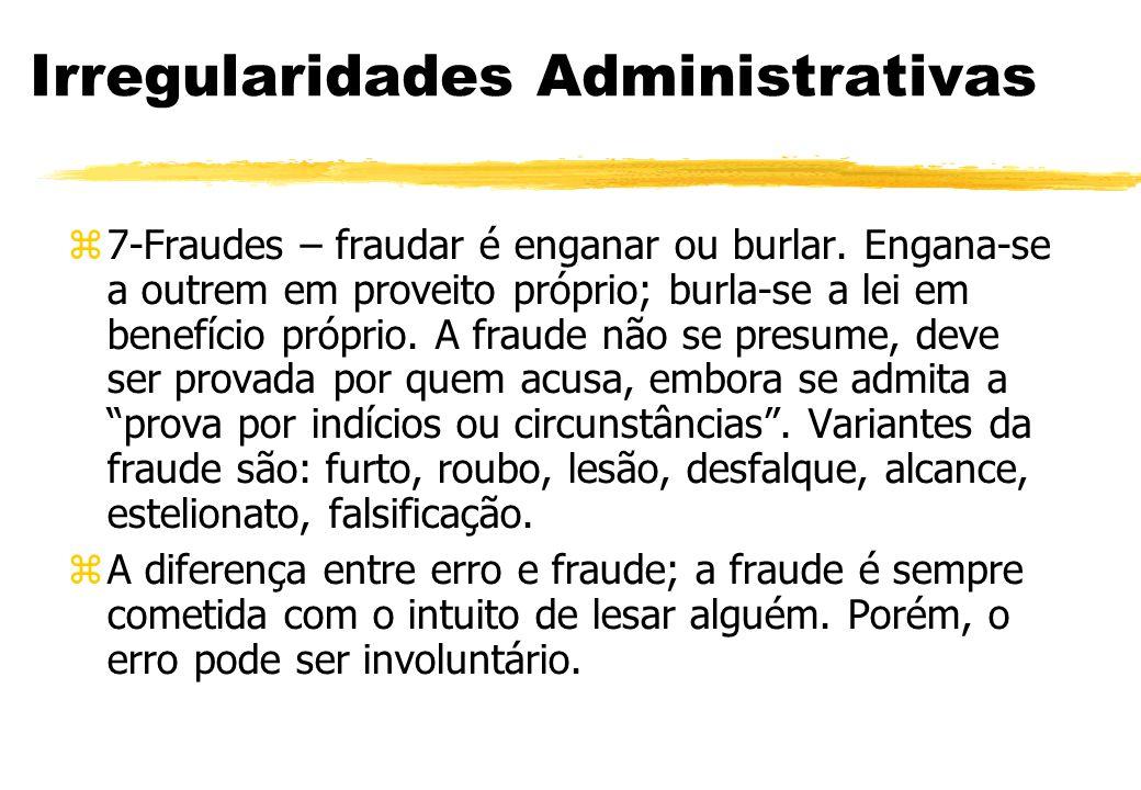 Irregularidades Administrativas