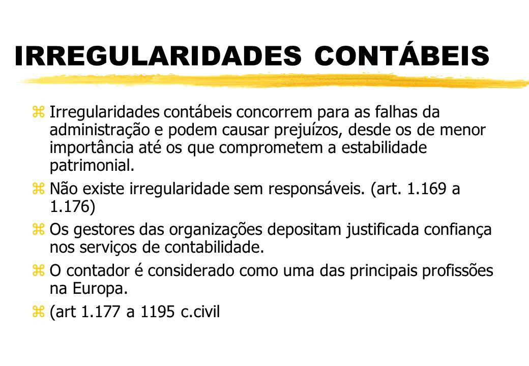IRREGULARIDADES CONTÁBEIS