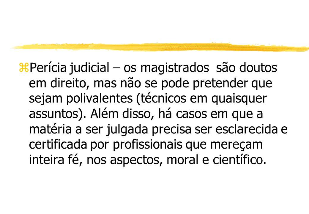 Perícia judicial – os magistrados são doutos em direito, mas não se pode pretender que sejam polivalentes (técnicos em quaisquer assuntos).