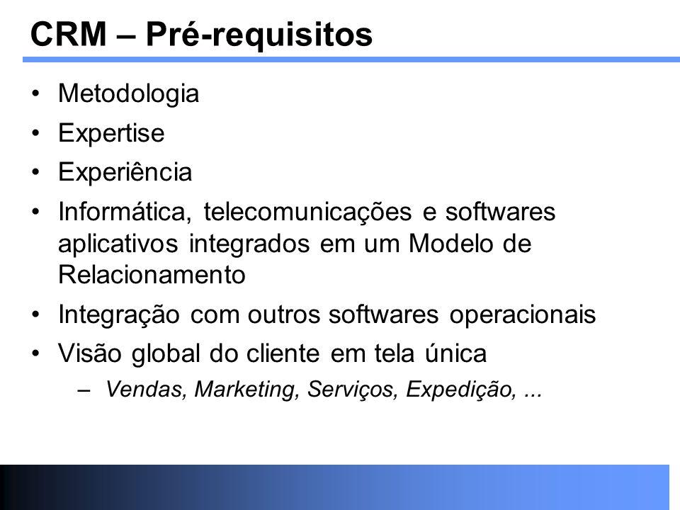CRM – Pré-requisitos Metodologia Expertise Experiência