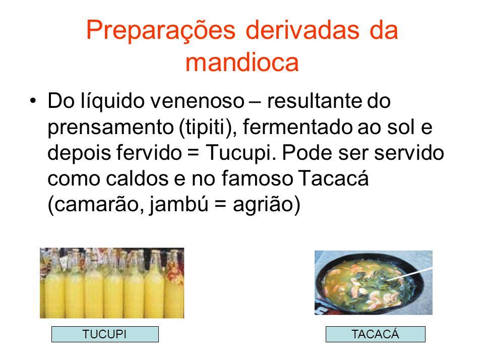 Preparações derivadas da mandioca