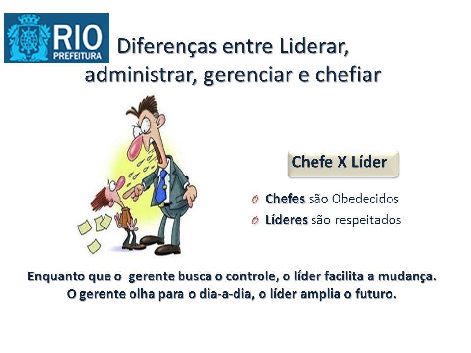 Diferenças entre Liderar, administrar, gerenciar e chefiar