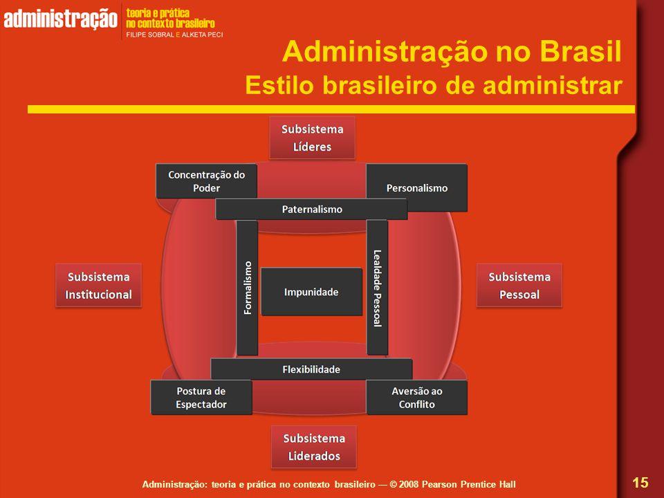 Administração no Brasil Estilo brasileiro de administrar