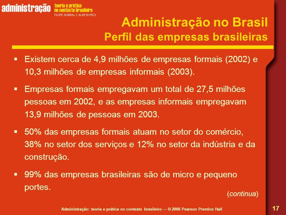 Administração no Brasil Perfil das empresas brasileiras