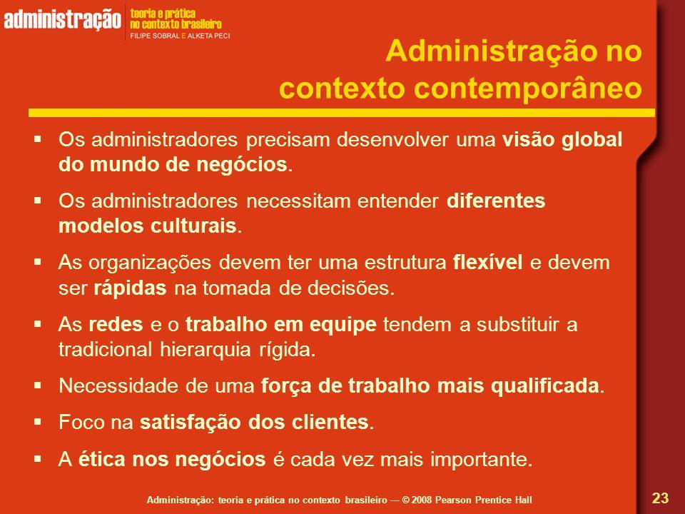 Administração no contexto contemporâneo