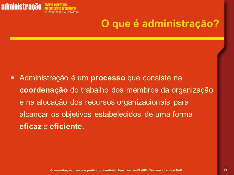 O que é administração