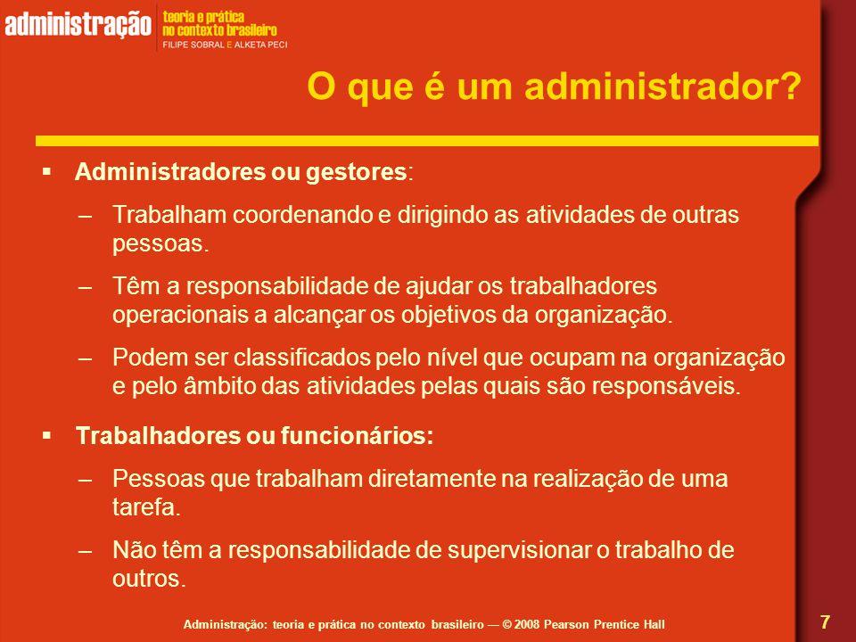 O que é um administrador
