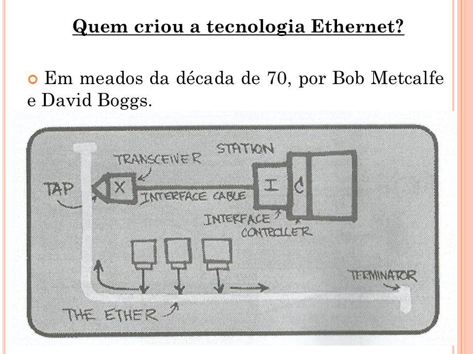 Quem criou a tecnologia Ethernet