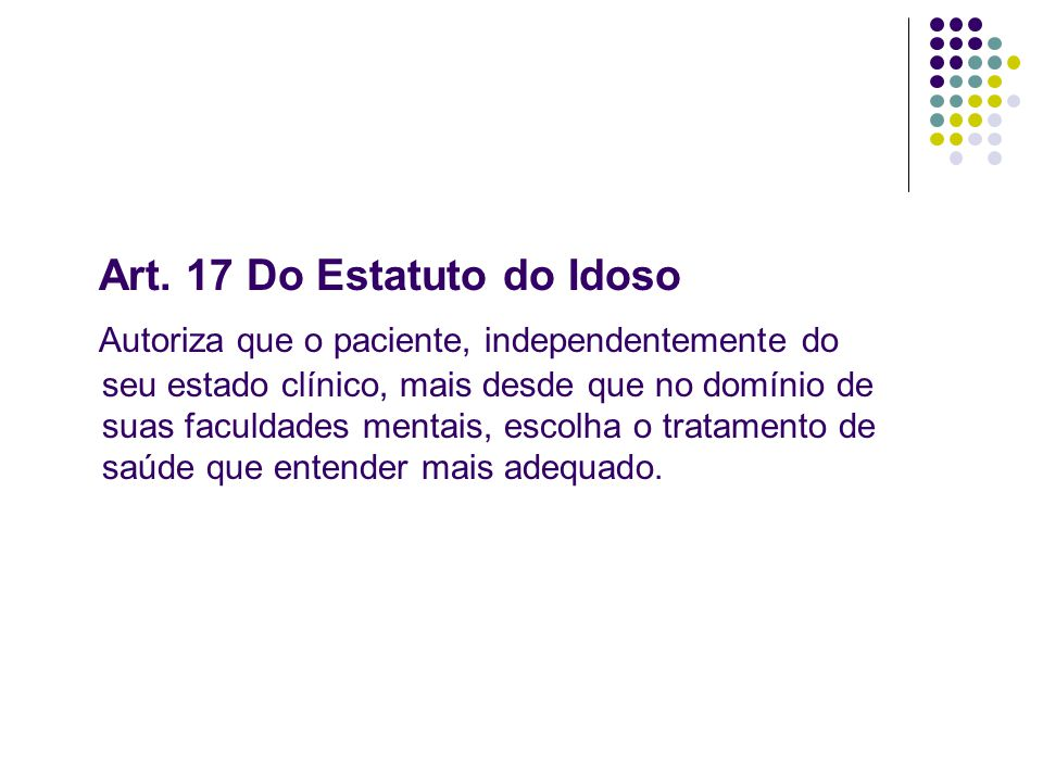 Art. 17 Do Estatuto do Idoso