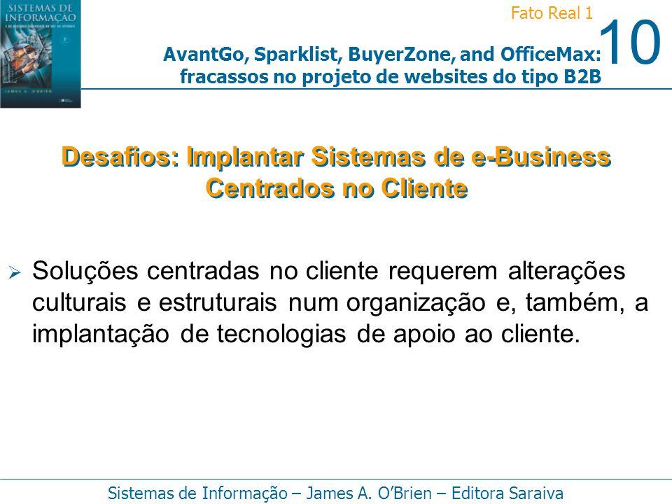 Desafios: Implantar Sistemas de e-Business Centrados no Cliente