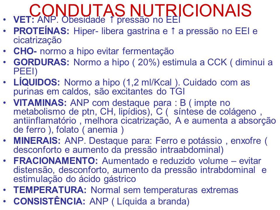 CONDUTAS NUTRICIONAIS