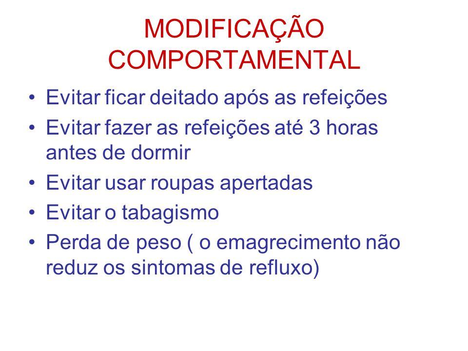 MODIFICAÇÃO COMPORTAMENTAL