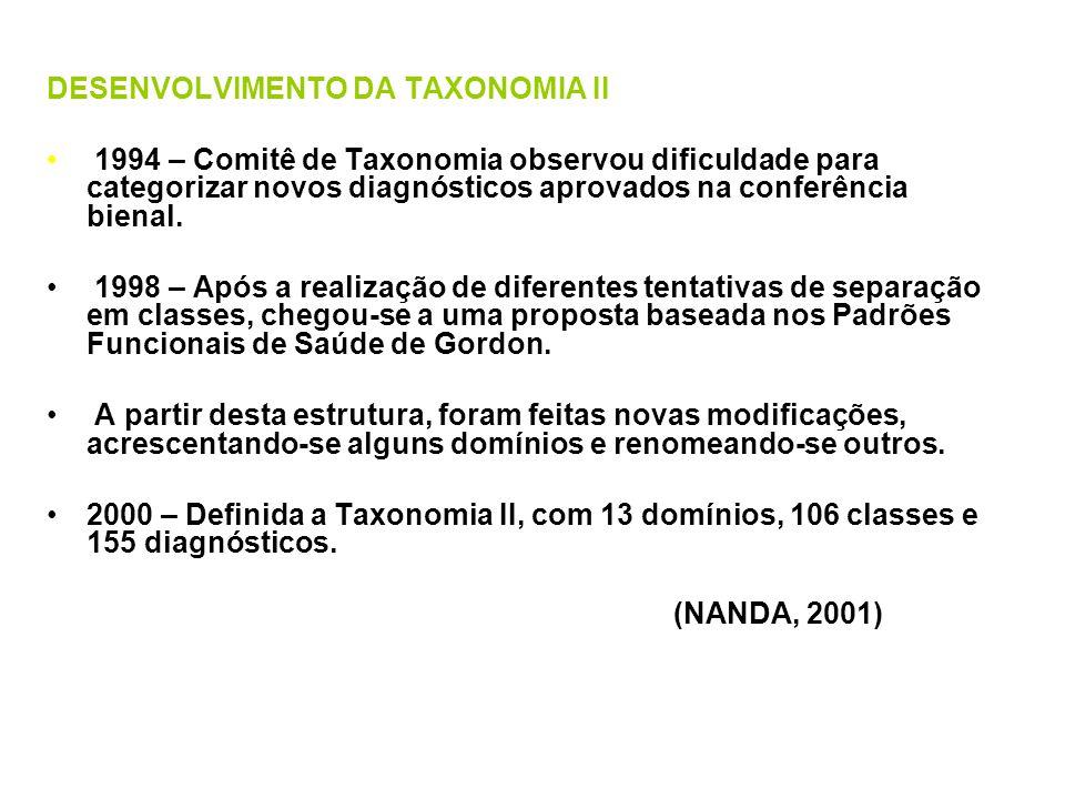 DESENVOLVIMENTO DA TAXONOMIA II