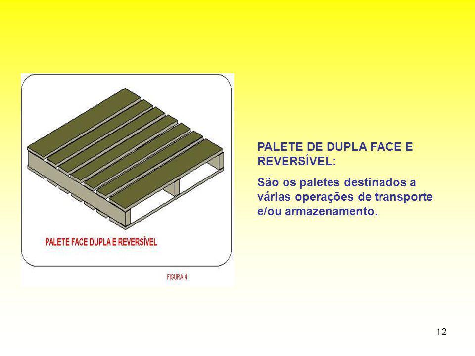 PALETE DE DUPLA FACE E REVERSÍVEL: