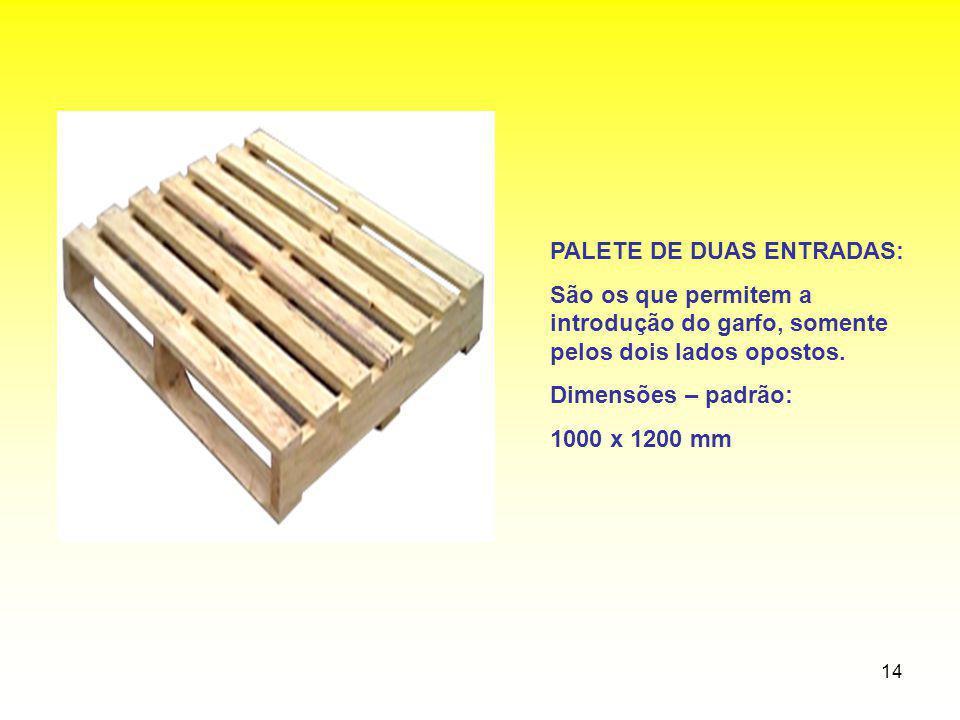PALETE DE DUAS ENTRADAS: