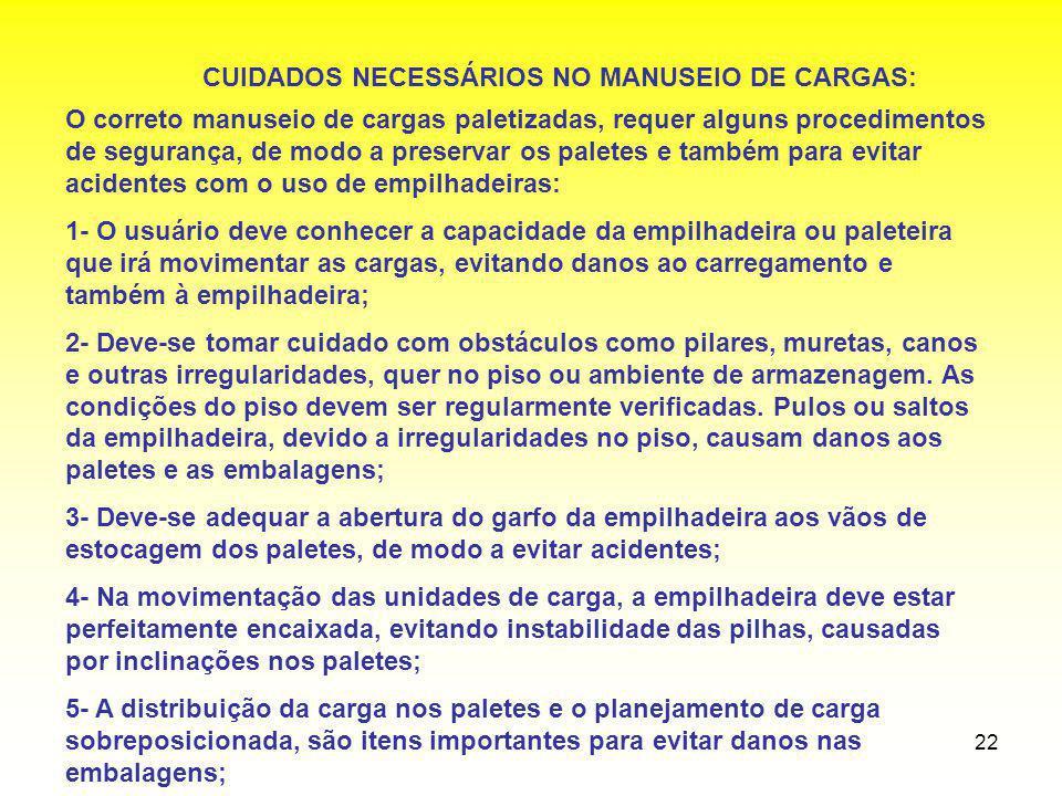 CUIDADOS NECESSÁRIOS NO MANUSEIO DE CARGAS: