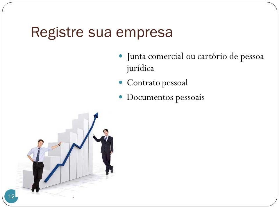 Registre sua empresa Junta comercial ou cartório de pessoa jurídica